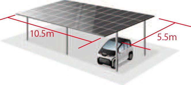 岐阜県多治見市の電力事業株式会社エネファントの太陽光パネル付きカーポート無料設置