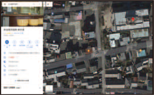 GoogleMap(グーグルマップ)の表示例